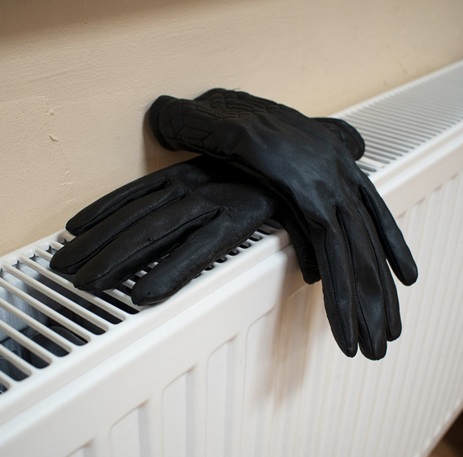 Gloves on a Radiator